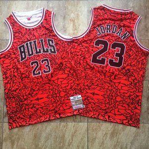 Chicago Bulls Michael Jordan Red  Jersey (2)